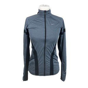Nike Running XS Jacket Full Zip Thumbholes Gray